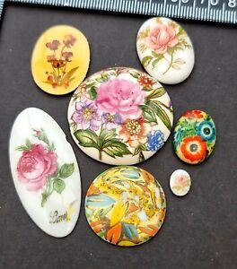 Ceramic Porcelain Limoges Vintage jewellery making cabochons craft