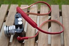 Leather Camera Strap-Rouge