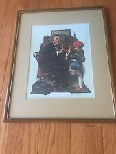 Norman Rockwell The Doctor and the Doll Lithograph Purchased in Phila July 1978