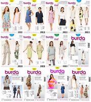 Burda Sewing Patterns Misses' Coordinates Dress Shirt Skirt Coat Jacket Blouse
