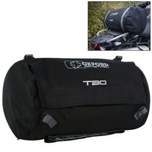 Oxford Drystash T30 Roll Bag Black Motorcycle Soft Luggage Tail Saddle Bag