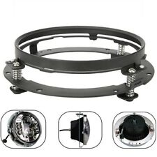 "7"" Black LED Headlight Mounting Ring Bracket For Harley Touring 1994-2013"