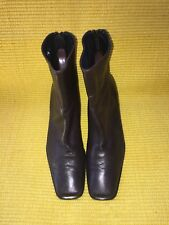 Stuart Weitzman Ankle Boots Size 7.5 B Brown Made In Spain Kid Leather Lined