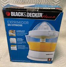BLACK & DECKER HOME CITRUS JUICER - OPEN BOX - NEVER USED