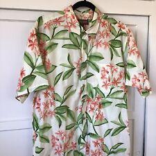Mens Cooke Street Honolulu Hawaiian Floral Short Sleeve Button Down Shirt Size L