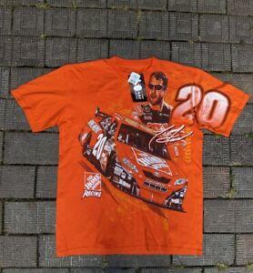 Vintage Tony Stewart 20 Shirt Orange Chase Authentics Side pose L New