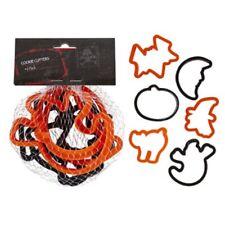 Set of  6 Halloween Cookie Cutters Bat Pumpkin Moon Witch Ghost Cat