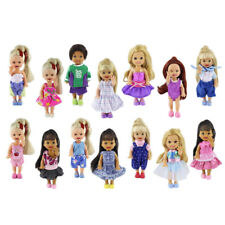 6Set Handmade Cute Clothes Dress Outfit for  Sister Little 4 inch Doll xMas Gift