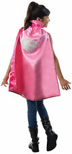 Girls Deluxe Pink Supergirl Cape Superhero Cape Kids One Size
