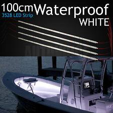 4x 1M Boat LED Strip Light Waterproof Marine Bass Fishing Cabin Decoration White