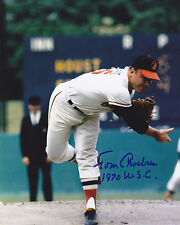 TOM PHOEBUS  BALTIMORE ORIOLES  1970 WSC     ACTION SIGNED 8x10