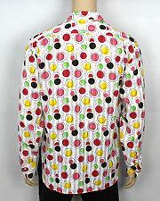Mens Vintage 70s Style Disco Dagger Collar Retro Shirt Psychedelic Festival XL