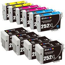 10P for 252 XL 252XL BCMY Ink Cartridge fit Epson WorkForce WF-7620 W/ Ink Level
