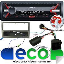 VAUXHALL Corsa C SONY CD MP3 USB AUX STEREO AUTO VOLANTE KIT & Grigio Fascia