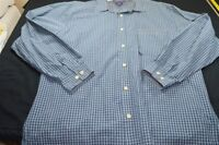 Tommy Jeans Navy Blue Green White Plaid Large Cotton Men's Shirt