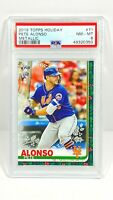 2019 Topps Holiday Pete Alonso Metallic SP Rookie PSA 8