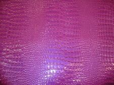 15 Yards Vinyl fake Leather Crocodile VIOLET upholstery embossed Faux fabric