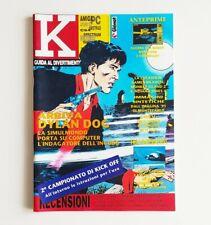 K guida al divertimento elettronico n°7/8 K30 luglio/agosto 1991 rivista videogi