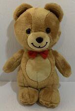 "Gund Kraft Peanut Butter Teddy Bear With Red Bow Tie 10"" Plush Stuffed Toy"