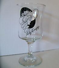 Vintage Lily Langtry Showgirl Stemmed Drink Glass / Langtry's Barware