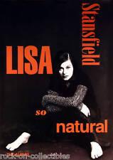 LISA STANSFIELD 1993 SO NATURAL PROMO POSTER ORIGINAL