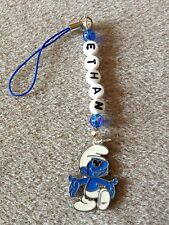 SMURFS  SMURF  DS MOBILE BAG CHARM PERSONALISED GIFT ANY NAME KITSCH