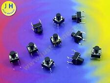 Stk. 10  x Taster / Tact Switch (4 pin) 6x6x 7 mm Reset Arduino 12V THT #A1822