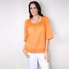 Cotton 3/4 Sleeve Hand-wash Only Tops & Blouses for Women