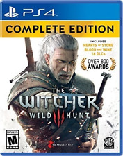 Witcher 3 Wild Hunt Complete Edition, PS4 Game, All Dlc Expansions, Geralt, Ciri