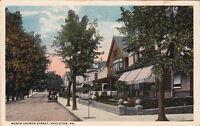 Postcard North Church Street Hazleton PA