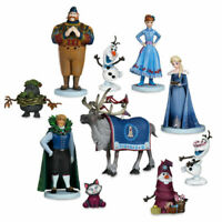 LOT DE 10 FIGURINES DISNEY REINE DES NEIGES 2 FROZEN 2 ELSA ANNA OLAFF KRISTOFF