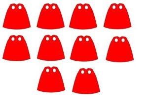 Authentic LEGO® Lot of 10 Red Capes From Superman Minifigure
