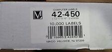 10,000 Maco 42-450 Labels, 3 1/2 x 15/16