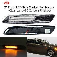 For 03-06 Reiz Crown 06-09 Lexus ES GS LED Side Marker Lamps Light Clear Lens