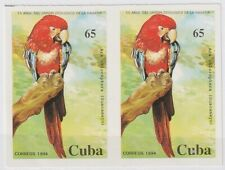 1994.56 SPAIN ANTILLES 1994 MNH ZOO BIRD. PARROT PROOF IMPERFORATE PAIR