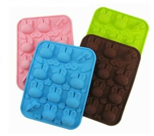 Miffy Bunny Rabbit Carrot Silicone chocolate Mould Mold Ice Cube Wax Melt Easter