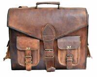Mens Leather messenger bag laptop bag Work computer case shoulder bag