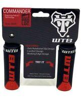 WTB Commander Padloc MTB Handlebar Bicycle Bike Grips - Black / Red
