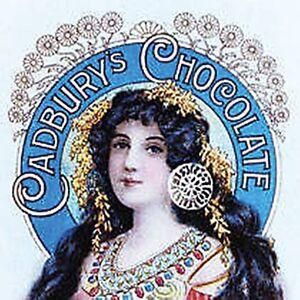 Cadbury Lady Verstärkt Getränke Matte / Untersetzer (Hb)