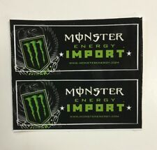 Monster Energy Drink IMPORT Stickers (2) Unused NOS