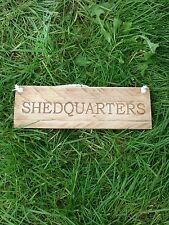 Shedquarters in legno da appendere Insegna 27 CM x 7 cm