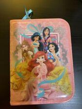Disney Princess girls pencil case soft/color pencils/ruler/scissors/eraser/glue