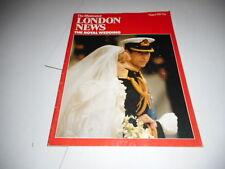 AUG 1981 ILLUSTRATED LONDON NEWS magazine PRINCESS DIANA ROYAL WEDDING