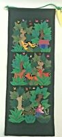 Wall Hanging Quilted Embroidered Handmade Applique Folk Art Miriam Lawson Pocket