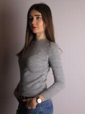 C16 Zara Pullover Sweatshirt Blogger Style grau Vintage Einzigartig Größe S