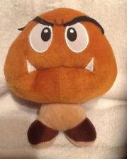 Nintendo Super Mario Brown Goomba Plush Stuffed Toy Mushroom Purse Wallet Clip