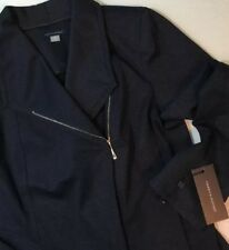 NEW TOMMY HILFIGER Womens Jacket Size 10 Medium Stretch Indigo Blue Jeans Coat