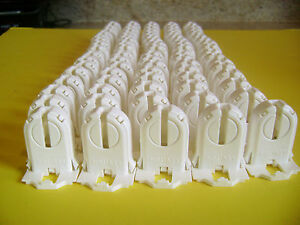 80 of Leviton 13661-SNP T8/T12 LED Bi-Pin Non Shunt Tombstone Lamp Holder Socket