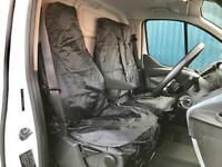 CITROEN DISPATCH ALL MODELS - VAN SEAT COVERS BLACK HEAVY DUTY WATERPROOF 2-1