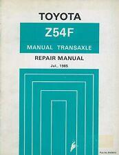 1985 TOYOTA Z54F TRANSAXLE REPARATURANLEITUNG TRANSAXLE REPAIR MANUAL RM061E